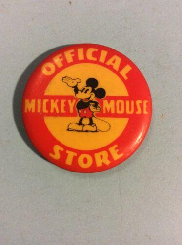 VINTAGE MICKEY MOUSE OFFICIAL STORE PIN. KAY KAMEN NEW YORK LONDON. 1937 DISNEY