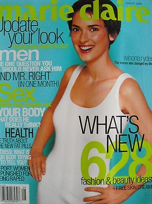 Winona Ryder  August 1999 Marie Claire Magazine