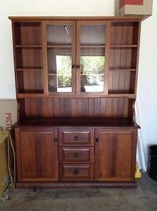 Jarrah timber wall unit buffet hutch Mountain Creek Maroochydore Area Preview