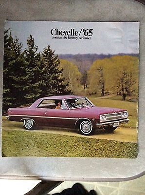 1965 Chevelle Malibu Super Sport Convertible Chevrolet Original Sales Brochure 1965 Chevelle Malibu Convertible