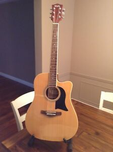 Washburn acoustic,electric cutaway guitar and case. $125.