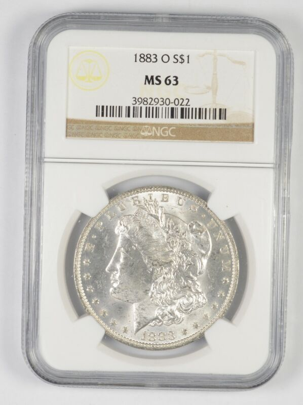 Choice Unc 1883-O Morgan Silver Dollar - Graded NGC MS63 MS63 - New Orleans