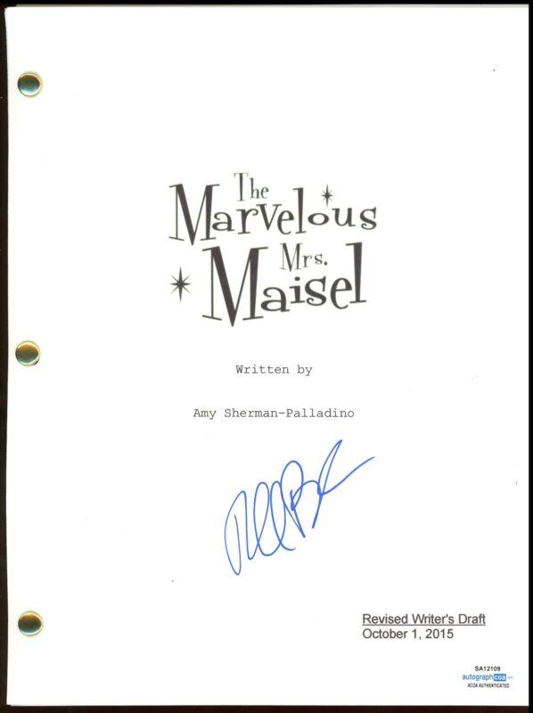 "Rachel Brosnahan ""The Marvelous Mrs. Maisel"" AUTOGRAPH Signed Full Script ACOA"