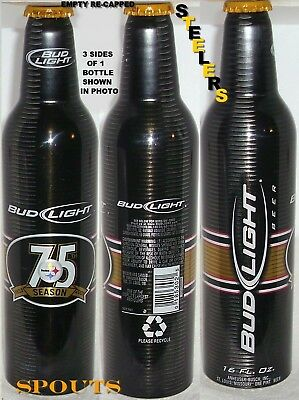 PITTSBURGH STEELERS 2007 NFL ALUMINUM BOTTLE+CAP-CROWN BEER CAN FOOTBALL SPORTS