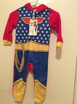 Wonder Woman Superhero Size 4T Blanket Sleeper Costume Pajamas with Hood (Womens Superhero Sleepwear)