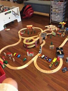 Huge wooden railway train set Thomas & Friends plus more