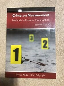Crime and measurement methods in forensic investigation