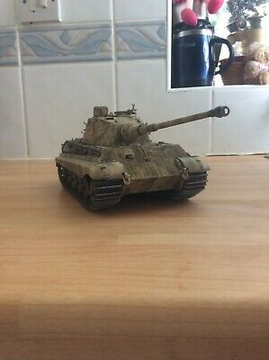 1/35 king tiger henschel w/zimmerit tank model kit built and painted