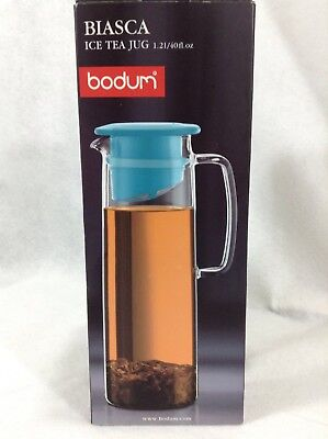 Glass Teapot with Infuser Bodum Pitcher Cold Brew Biasco Filter Tea Borosilicate ()