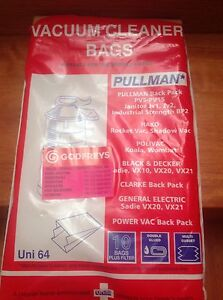 Pullman vacuum cleaner bags Randwick Eastern Suburbs Preview