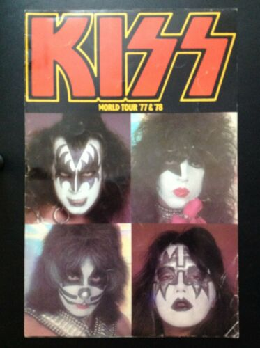 KISS 1977 & 1978 Rock and Roll Over & Love Gun World Tour Concert Program Book