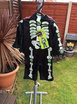 Sainsbury's Baby Halloween Costumes (BNWT SAINSBURY'S TU CLOTHING BABY SKELETON  FANCY DRESS HALLOWEEN)