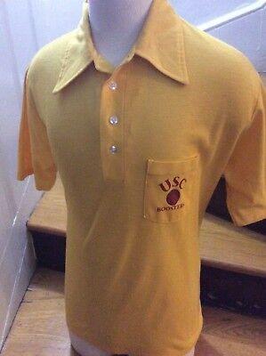 (USC Trojans Boosters Collegiate Pacific Vtg 80's Yellow Polo Men's XL Rare)