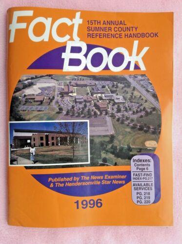 Vintage 1996 Sumner County Tennessee Reference Handbook