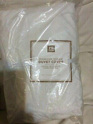 Pottery Barn Teen Diamond Dream Twin Duvet Cover White NWT!