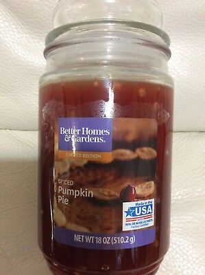 Better Homes & Gardens Spiced Pumpkin Pie Candle Large Jar 18oz NEW  Free