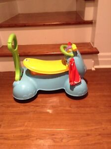 Fisher price ride on and push elephant
