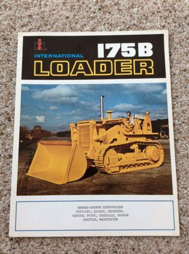 1968 International 175B Loader  original factory printed sales catalogue