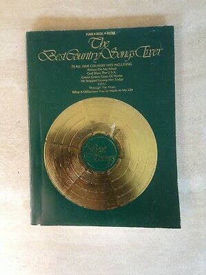 The Best Country Songs Ever Sheet Music Songbook 70 All-Time Country Hits