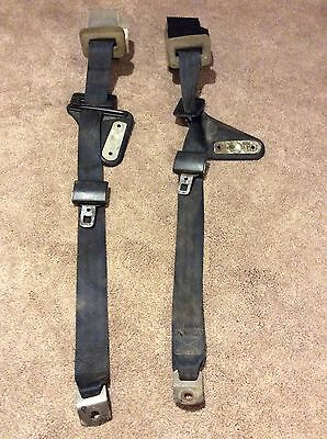Black Rear 3 Point Harness Seat Belt Set 1982 1992 3Rd Gen Camaro Firebird