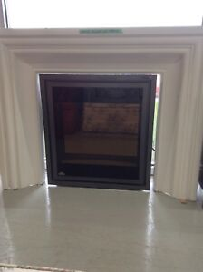 Napoleon Electric Fireplace with White Mantle