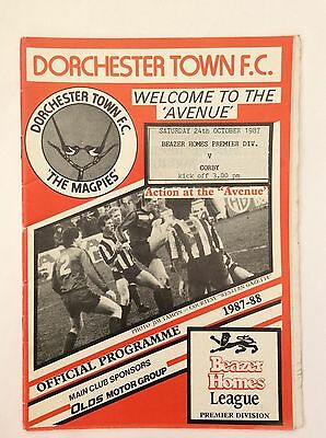 Dorchester Town  V Corby Beazer Homes Leauge  October 1987