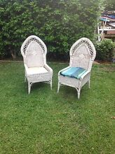Amazing 1950 s gothic cathedral style wicker chairs Cremorne North Sydney Area Preview