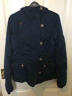 Lovely dark blue coat from Fatface, with hood, size 10. used condition.