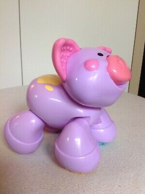 Fisher Price Amazing Animals Purple Momma Pig-Clicking//Rattle/Squeaking Sounds