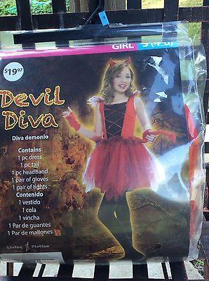 Halloween costume devil diva girls size s 4-6 (Halloween Divas)