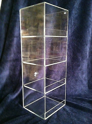 """Acrylic Display Case 6"""" x 6""""x 19"""" tall  Convenience Store Counter Top Display"""