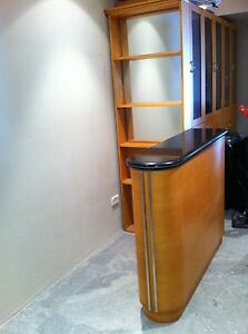 Bar Unit & Mirrored Shelving Burwood Heights Burwood Area Preview