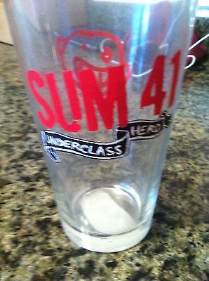 Sum 41 pint glass promo Newbury Comics for Underclass Heros cd