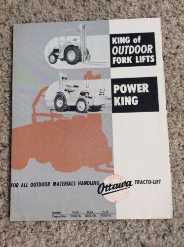 1956 Ottawa tracto-lift, fork lift, original factory printed sales information