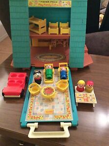 Vintage Fisher Price Little People A Frame house Strathcona County Edmonton Area image 3