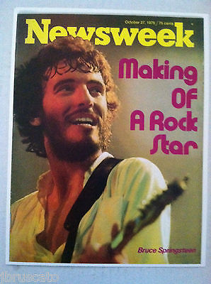 1975 BRUCE SPRINGSTEEN NEWSWEEK MAGAZINE MAKING OF A ROCK STAR PHOTO COVER ONLY  ()
