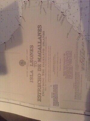 Admiralty Chart 558. Falklands, Jason Islands, Gallegos, Pat Mercedes, Argentina