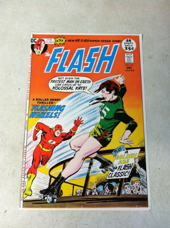 FLASH #211 COVER ART approval cover proof 1970