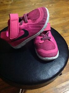 Hot pink toddler Nikes