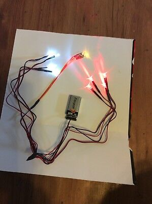 RC LED Light kit, 4 bright white, 2 yellow fog, and 4 red tail lights