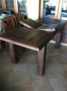 Quality Solid Rustic Timber Table Like New! Smithfield Cairns City Preview