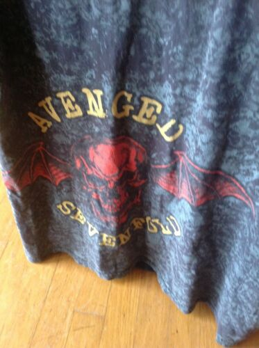 Vintage 2000 Avenged Sevenfold Rock Skull All Over Logo Print T Shirt Large *WoW