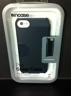 - Incase Pro Snap iPhone 5 5s i& Phone SE Hard Shell Case w/Grip Edge Frost Black