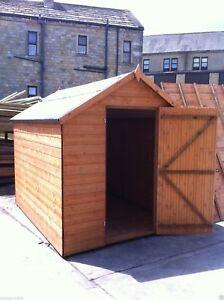 6x5 wooden apex garden shed factory seconds hut pinelap tg store no windows