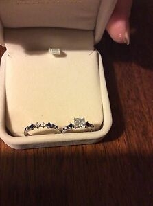 2 Genuine Sterling Silver Rings Both Are Size  8