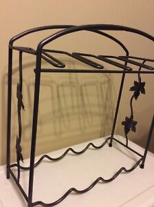 Wine rack - metal with ivy trim