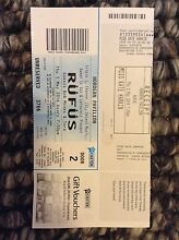 Rufus Ticket x 1 Pyrmont Inner Sydney Preview