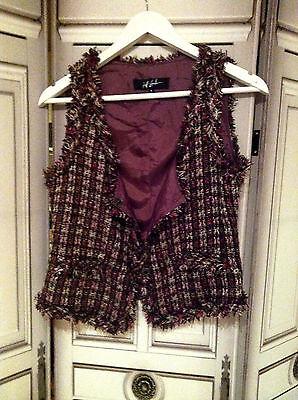 Veste gilet jeff gallano tweed couture 36 neuf