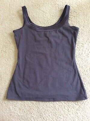 Used, PRETTY MARKS AND SPENCER M&S STRETCH GREY SPORTS TOP AEROBICS RUNNING GYM SIZE 8 for sale  Shipping to Nigeria