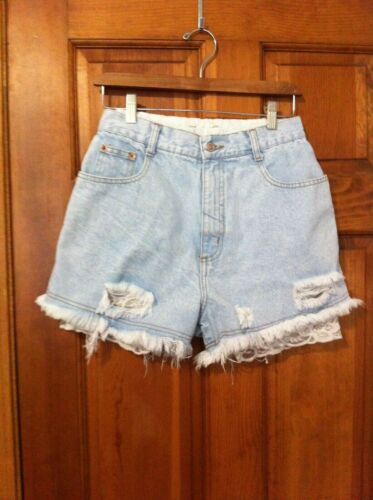 Vintage Steel Jeans Denim Shorts High Waist Made In USA 80s 90s Size 13